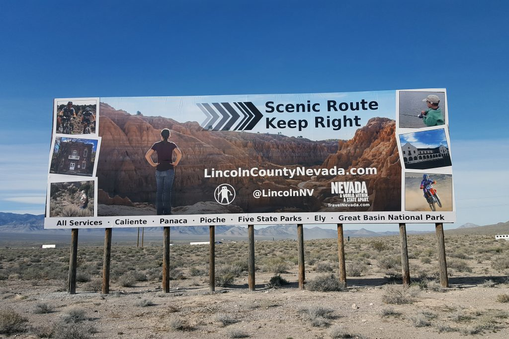Hiko Billboard - Scenic Route